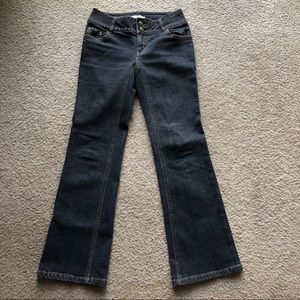 CAbi JEANS MID RISE BOOT CUT CONTEMPORARY FIT SZ 2